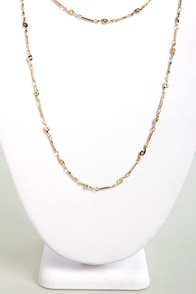 All Smiles Gold Chain Necklace at Lulus.com!