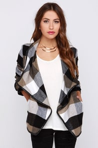 Show and Lapel Brown Flannel Jacket at Lulus.com!