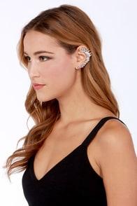 All Ears Gold Rhinestone Ear Cuff at Lulus.com!