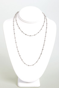 Beading the Way Silver Necklace at Lulus.com!
