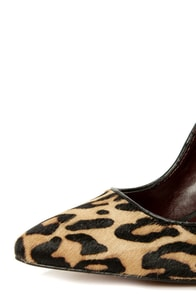 Report Signature Murphy Leopard Pony Fur Chunky Heels at Lulus.com!