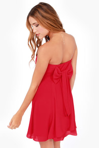Pick and Choose Strapless Red Dress
