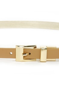 You Belt Your Life! Beige Belt at Lulus.com!