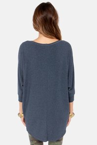 Novel-Tee Shop Denim Blue Top at Lulus.com!