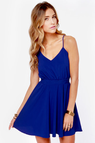 Lucy Love Penelope Royal Blue Dress at Lulus.com!