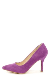 Karla 5 Light Purple Suede Pointed High Heels