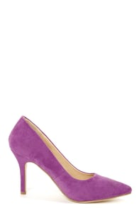 Karla 5 Light Purple Suede Pointed High Heels at Lulus.com!