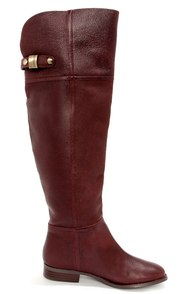 Chinese Laundry Flash Bordeux Leather Over the Knee Boots at Lulus.com!