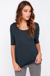 Something Stellar Midnight Blue Tee at Lulus.com!
