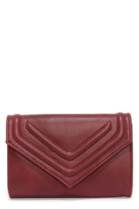 Leave a Message Burgundy Clutch at Lulus.com!