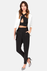 Ankorel Paris Gather Around Black Harem Pants at Lulus.com!