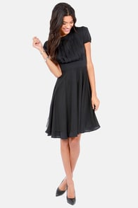 Ankorel Paris Au Contraire Cutout Black Dress at Lulus.com!