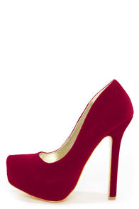 Speed Limit 98 Vivian Red Curvy Platform Pumps at Lulus.com!