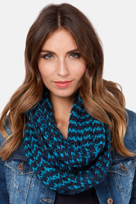 Brainwaves Blue Infinity Scarf at Lulus.com!