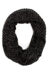 Silver Lining Black Infinity Scarf at Lulus.com!