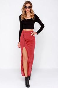 Precious Time Wine Red Maxi Skirt at Lulus.com!