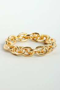 Chain and Fortune Gold Chain Bracelet