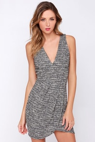 FM Waves Black and Ivory Dress at Lulus.com!