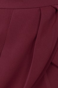 Lovely Layers Burgundy Tulip Skirt at Lulus.com!