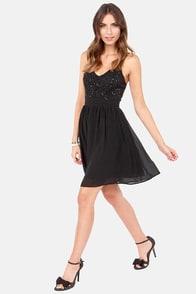 Stellar Starlight Black Sequin Dress