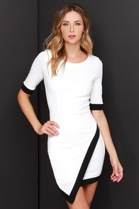 Wrap-phrodisiac Black and Ivory Dress at Lulus.com!