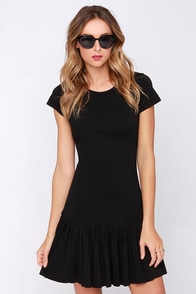 In the Pleat of the Moment Black Dress at Lulus.com!