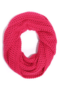 Roxy Cinnamon Bright Red Infinity Scarf at Lulus.com!