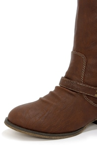 Outlaw 81 Tan Knee High Riding Boots at Lulus.com!