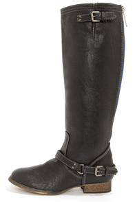 Outlaw 81 Black Knee High Riding Boots at Lulus.com!