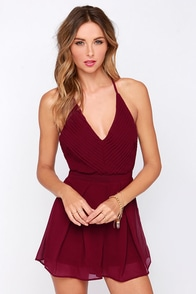Good and Proper Burgundy Romper at Lulus.com!