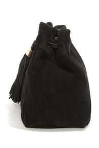 What's All the Tassel? Black Leather Purse at Lulus.com!