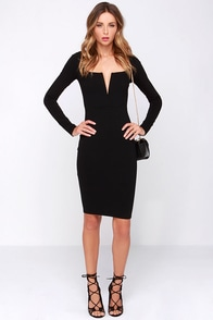 LULUS Exclusive Chic and Loving It Black Midi Dress at Lulus.com!