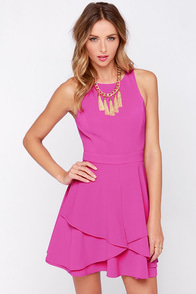 Sweepstakes Winner Magenta Skater Dress at Lulus.com!