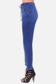 On the Go Blue Harem Pants at Lulus.com!