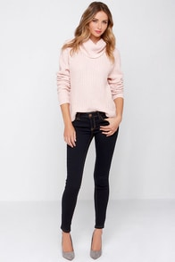 Indigo For It Low Rise Dark Wash Skinny Jeans at Lulus.com!