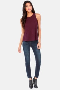 Stitch A Ride Embroidered Burgundy Top at Lulus.com!
