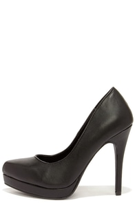 Get Pumped Black Pointed Platform Pumps at Lulus.com!