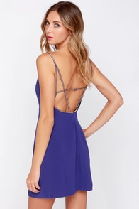 Fashion Forecast Beaded Indigo Dress at Lulus.com!