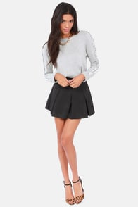 Shred and Butter Grey Crop Sweater at Lulus.com!
