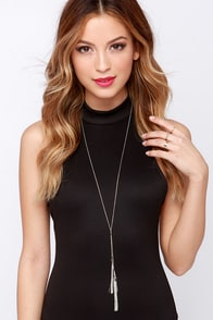 Your Lariat Awaits You Silver Tassel Necklace at Lulus.com!