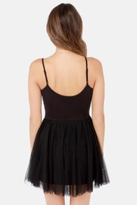 Billabong Twirl Me Black Dress at Lulus.com!