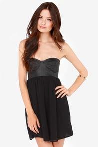 Billabong Somewhere Outback Strapless Black Bustier Dress at Lulus.com!