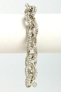Link-Well Silver Rhinestone Bracelet at Lulus.com!