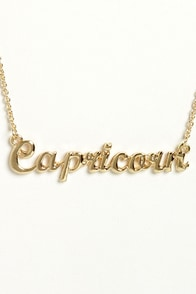 Zodiac Attack Gold Capricorn Necklace at Lulus.com!