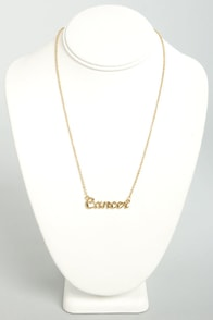 Zodiac Attack Gold Cancer Necklace at Lulus.com!