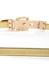 Wrapped in Riches Gold Stretch Belt at Lulus.com!