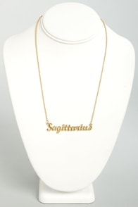 Zodiac Attack Gold Sagittarius Necklace at Lulus.com!