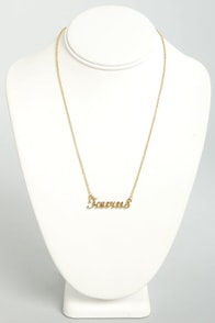 Zodiac Attack Gold Taurus Necklace at Lulus.com!