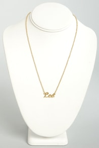 Zodiac Attack Gold Leo Necklace at Lulus.com!