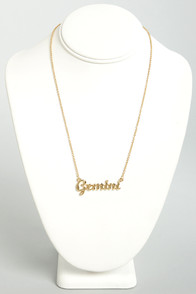 Zodiac Attack Gold Gemini Necklace at Lulus.com!